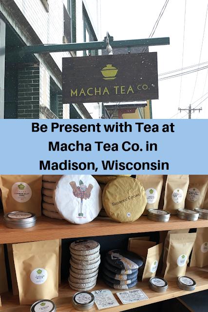 Enjoying tea and tea treats at Macha Tea Co. in Madison, Wisconsin