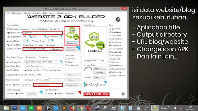 Website 2 APK Builder Pro - ubah website menjadi APK menggunakan PC