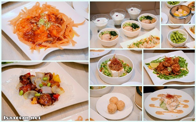 A close up on some of the yummy dishes inside Course Meal Set C