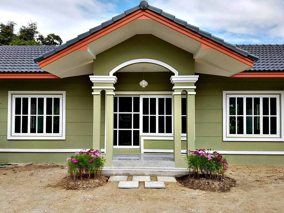 Here are 50 different small house designs you will adore. You can choose from a small beautiful house design to a bungalow style or craftsman house design. The size of these houses is perfect for a small Filipino family — a house with two to three bedroom. If you are looking for your dream house there is a big possibility that you can find it here! If you love the design make this as your inspiration and just design your own floor plan.  Houses are even made stunning with its beautiful exterior colors you can copy for your own house.