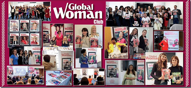 Anna-Christina featured on the Global Woman Club banner