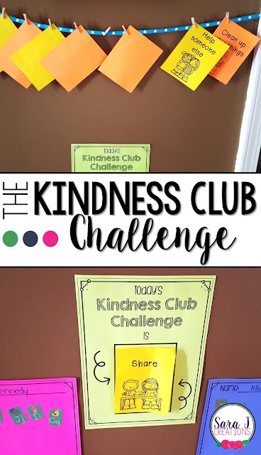 Free kindness club challenge to help children focus on positive behaviors. Perfect for #preschool #kindergarten #firstgrade