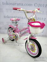 3 Sepeda Anak United Pretty Girl Rangka Aluminium Alloy 12 Inci