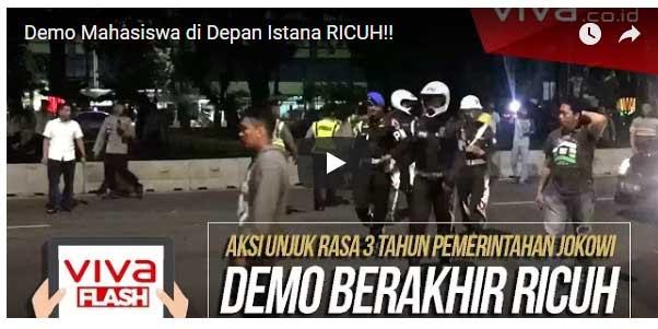[Video] Demo Mahasiswa di Depan Istana RICUH!!