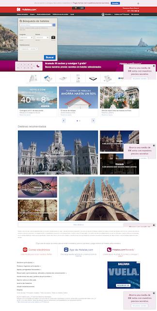 pagina principal de hoteles.com