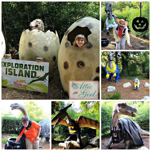Dutch Wonderland, Happy Hauntings, Exploration Island, trick-or-treat trail, dinosaurs