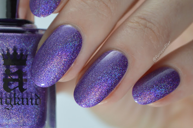 a england angel grace macro holographic sparkle close up