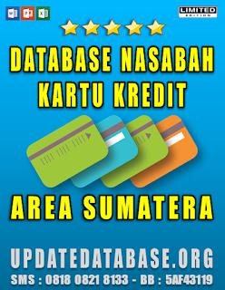 Jual Database Nasabah Kartu Kredit Area Sumatera