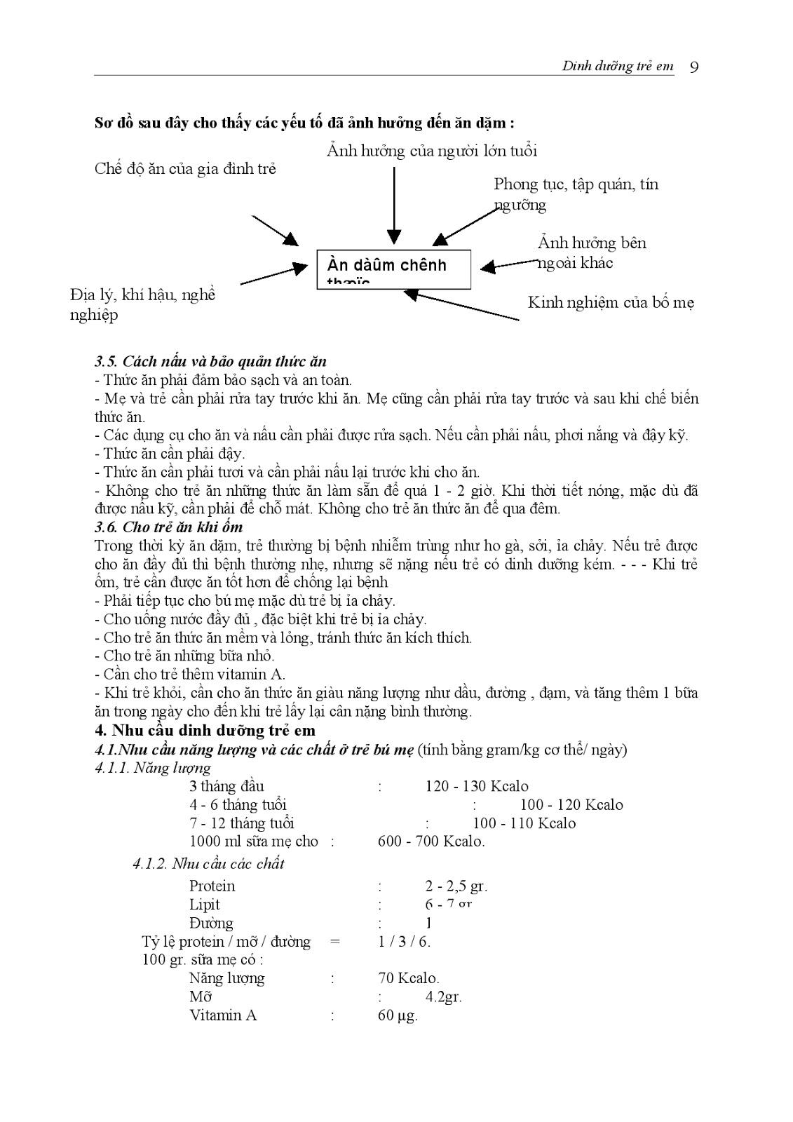 Trang 9 sach Bài giảng Nhi khoa I (Nhi khoa cơ sở - Nhi dinh dưỡng) - ĐH Y Huế