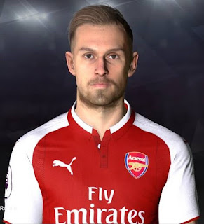 PES 2017 Faces Aaron Ramsey by Facemaker Ahmed El Shenawy
