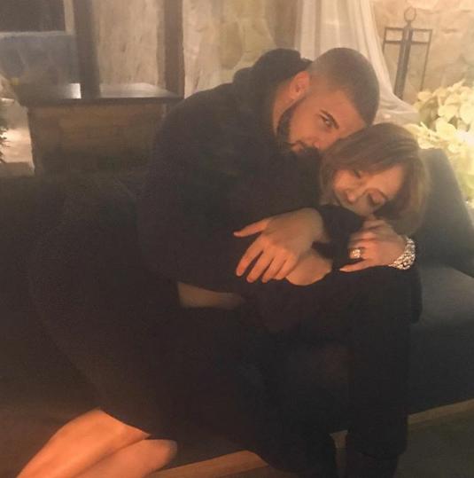 Drake shares photo of him cuddling Jennifer Lopez
