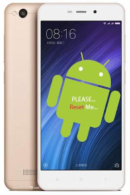 Cara Reset Ulang HP Xiaomi Redmi 4A Lupa Kunci