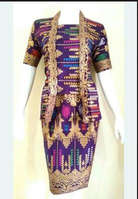 Model Baju Batik Songket Modern Terbaru