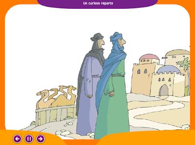 http://www.ceiploreto.es/sugerencias/juegos_educativos_3/7/1_Un_curioso_reparto/index.html