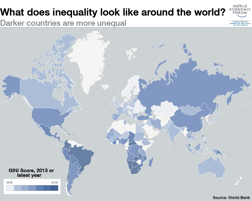 What does inequality look like around the World?
