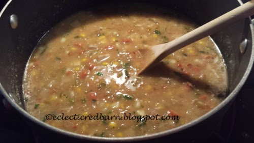 Eclectic Red Barn: Green Enchilada Pork Chili cookiing