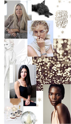 Christmas wishes from Amanda Wakeley, Natalia Barbieri of Bionda Castana, fashion model Fredrika Larsson & fashion model Aamito Lagum for www.fashionedbylove.co.uk british fashion blog