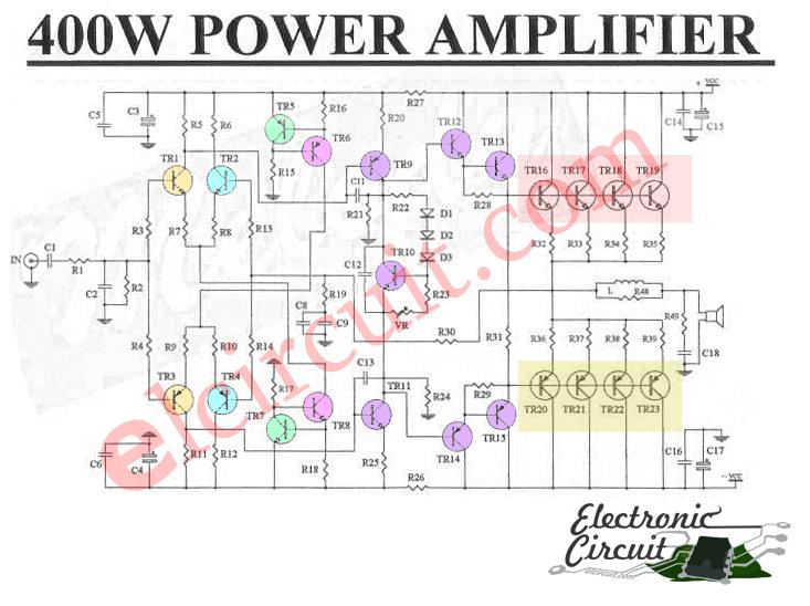 100w subwoofer amplifier circuit diagram truck lite 80888 wiring 400w power sanken c2922 a1216 - electronic