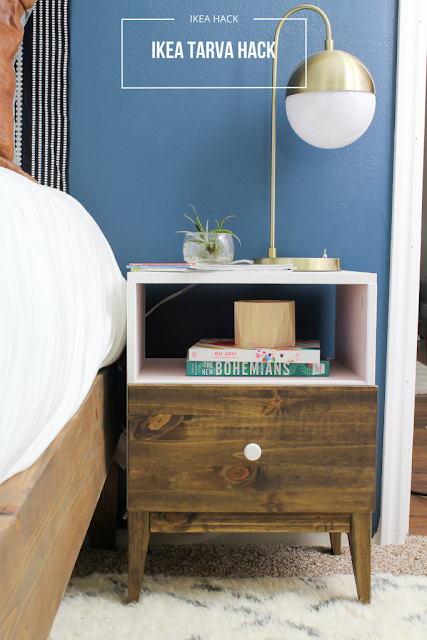 Ikea Tarva Night Stand Hack featured at Talk of the Town - www.knickoftime.net