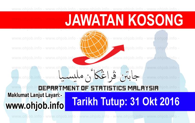 Jawatan Kerja Kosong Jabatan Perangkaan Malaysia logo www.ohjob.info oktober 2016