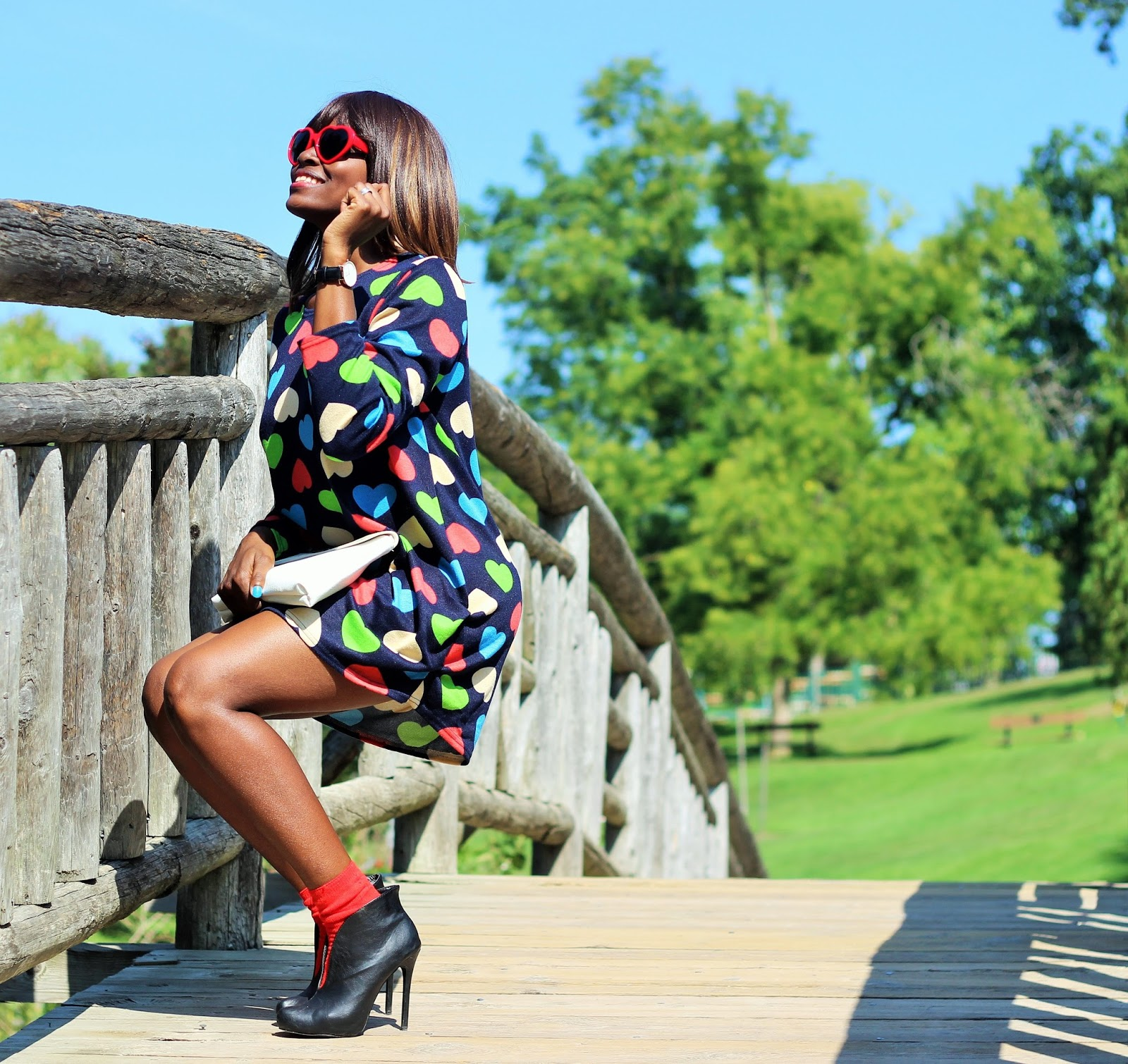 I WEAR MY HEART | QUIRKY CHIC IN FALL SWEATER DRESS