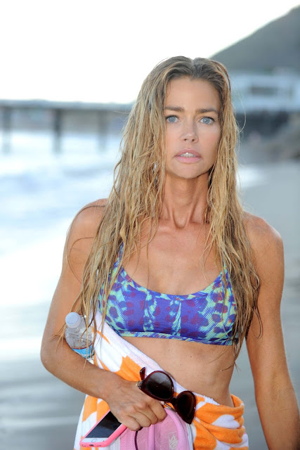 Denise Richards in a Bikini at a Beach in Los Angeles