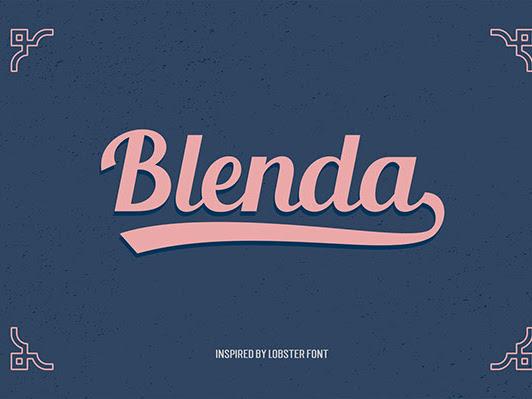 Download Blenda Script - Free Font
