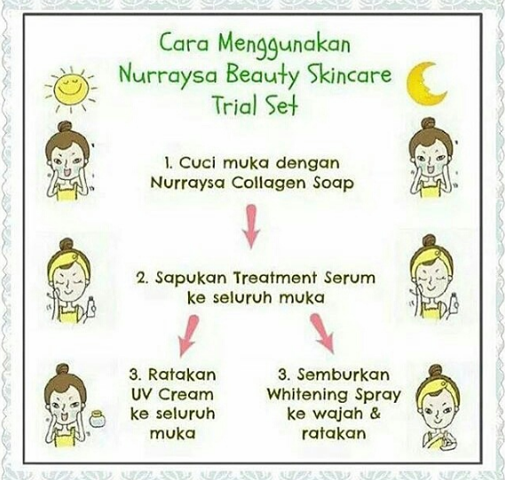 cara guna nurraysa beauty skincare