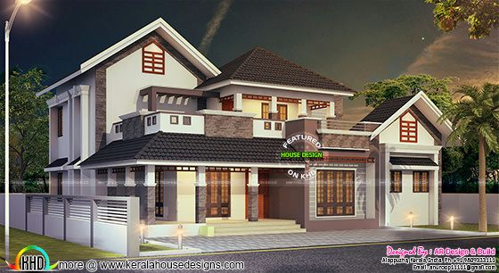 2980 sq-ft 4 bedroom house plan