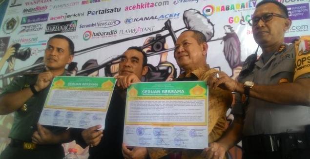 Warga Aceh dilarang rayakan tahun baru. ©2016 Merdeka.com