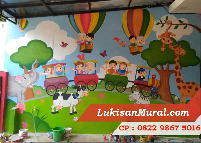 Lukisan tembok anak paud yang efektif untuk merangsang for Mural yang cantik