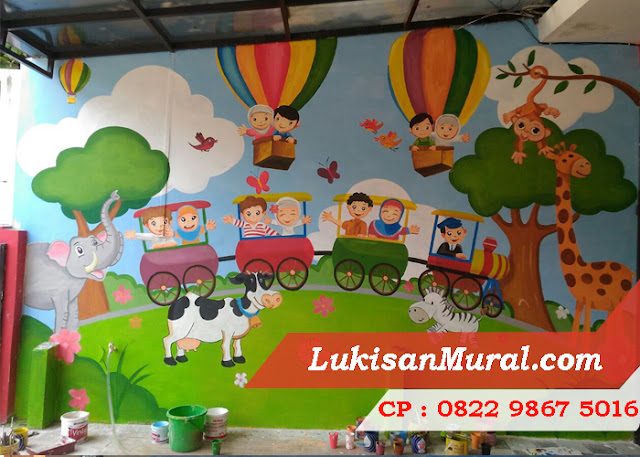 Lukisan Tembok Anak PAUD