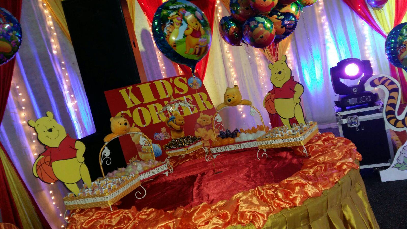 KISHA MEGA EVENTS Winnie The Pooh Theme 1st Year Birthday