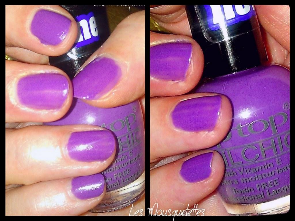 Teinte Grape Dance Vernis Tip Top Nail - Les Mousquetettes©