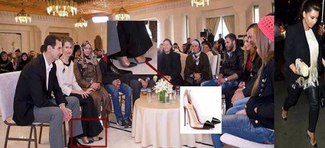 'حذاء زوجة بشار الأسد' يُغضب مواقع التواصل الاجتماعي! شاهدوا ثمن  حذاءها..!!