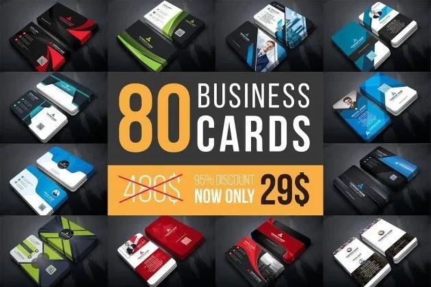 CreativeMarket Business Cards Mega Bundle By Curve Design 4615719