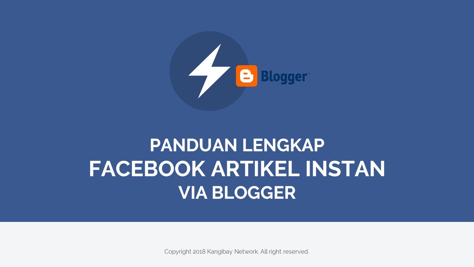 E-Book Mudah Daftar Setting dan Share Facebook Instant Article untuk Blogger