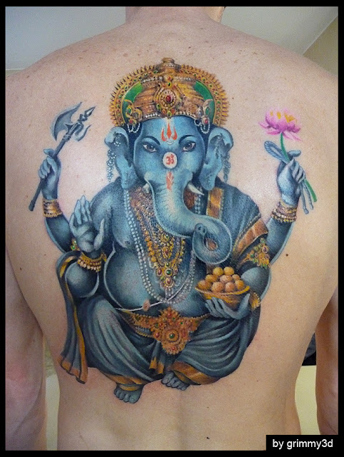 Ganesha Tattoo Colorida