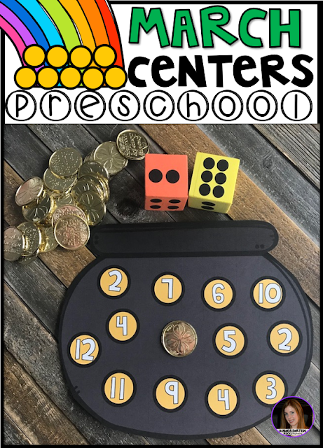 Are you looking for fun and simple thematic centers that you can prep quickly for your preschool classroom? Preschool March Centers was created for children ages 4-6 and mature 3 year-olds (looking for a challenge).
