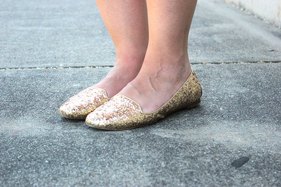 Kate Spade Trick Gold Glittery Flats | Will Bake for Shoes