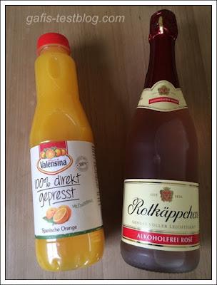 Valensina 100% direkt gepresste Orange und Rotkäppchen Alkoholfrei Rosé