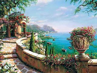 realismo-romántico-paisajes-al-óleo vistas-romanticas-pinturas