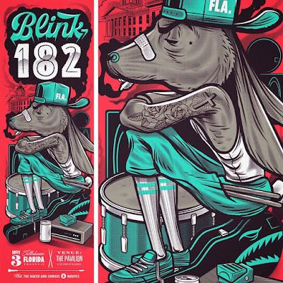 Inside The Rock Poster Frame Blog Travis Price Blink 182