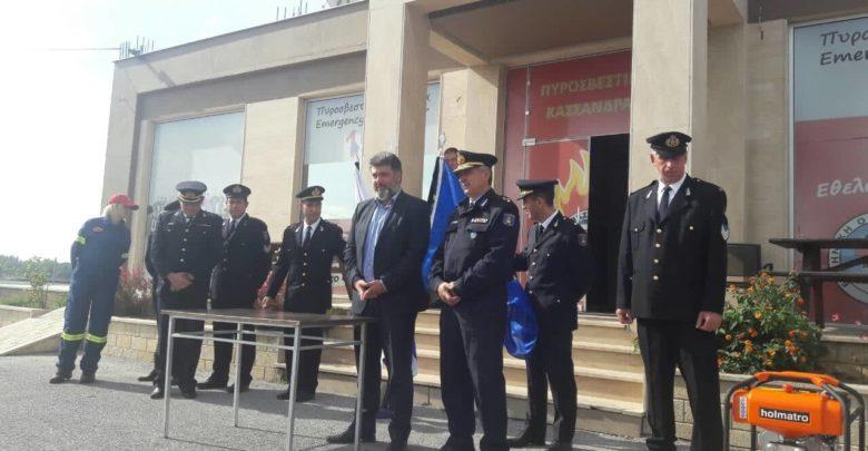 Δωρεά εξοπλισμού στο Πυροσβεστικό Κλιμάκιο Κασσάνδρας