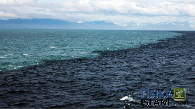 kenapa teluk alaska tidak menyatu, laut gibraltar, dua lautan bertemu namun terpisahkan, air laut dan air tawar tidak bercampur, teluk alaska dalam al quran, daerah pertemuan air laut dan air tawar.