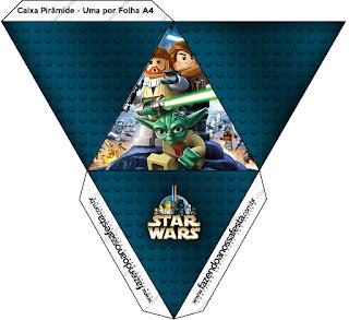 Caja con forma de pirámide de Star Wars Lego.
