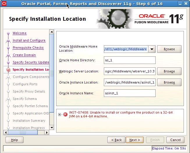 DBA Story: INST-07408:Unable to install or configure the product on