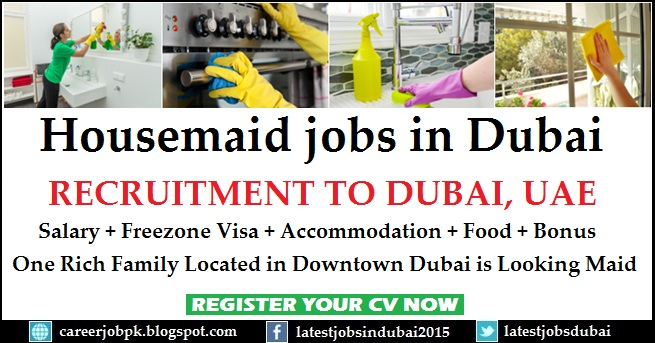 Housemaid jobs in Dubai