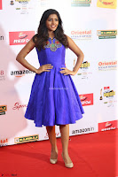Eesha in Cute Blue Sleevelss Short Frock at Mirchi Music Awards South 2017 ~  Exclusive Celebrities Galleries 076.JPG