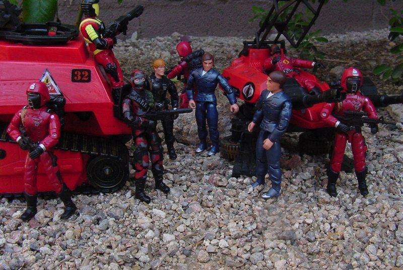 1993 Crimson Guard Commander, Battle Corps, 2004 Comic Pack Cobra Commander, 2005 Crimson Guard, 1983 Hiss Tank, Tomax and Xamot